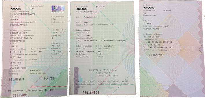 Papieren kentekenbewijs van auto overschrijven na overlijden